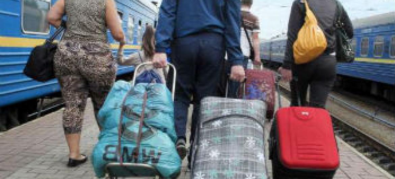 Deslocados internos na Ucrânia. Foto: Acnur/I.Zimova
