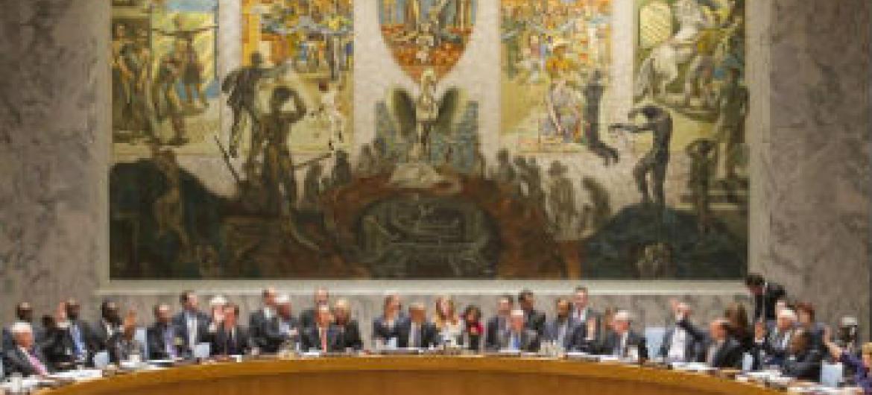 Resolução aprovada por unanimidade. Foto: ONU/Mark Garten