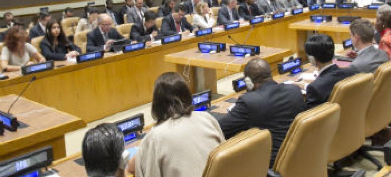 Encontro ocorreu neste sábado, na sede da ONU. Foto: ONU/Rick Bajornas