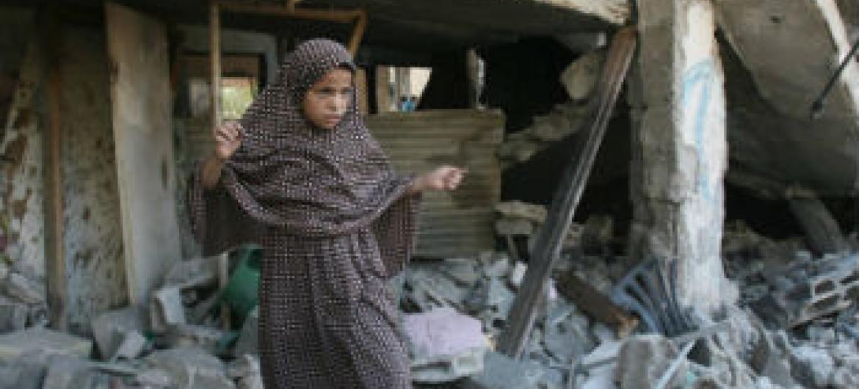 Destruição em Gaza. Foto: Ocha