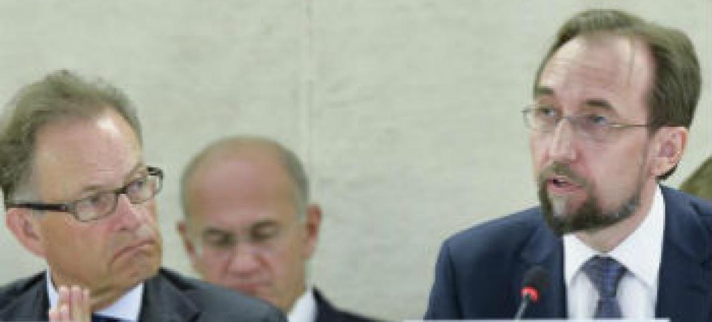 Zeid Ra'ad Al Hussein discursa no Conselho de Direitos Humanos. Foto: ONU/Jean-Marc Ferré