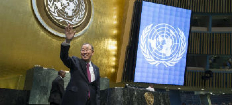 Ban Ki-moon reabre Assembleia Geral. Foto: Eskinder Debebe
