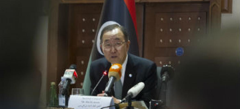 Ban Ki-moon esteve em visita à Líbia este mês. Foto: ONU/Eskinder Debebe