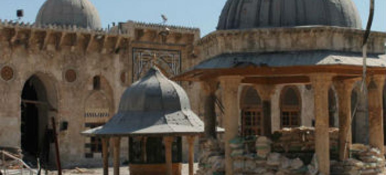 Mesquita de Aleppo, na Síria. Foto: Unesco/Ron Van Oers