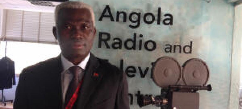 Afonso Pedro Canga nos estúdios da FAO em Roma. Foto: Rádio ONU.