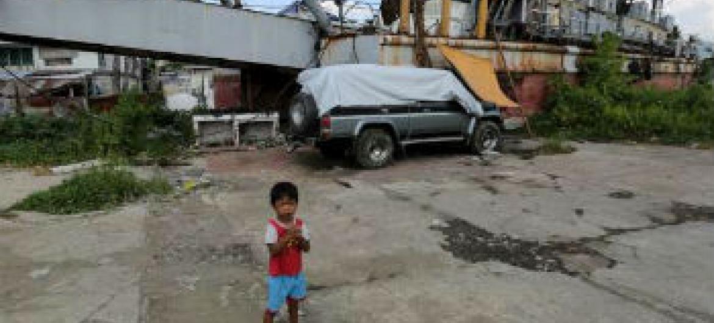 Tufão Hayan atingiu as Filipinas há um ano. Foto: Acnur/P.Behan