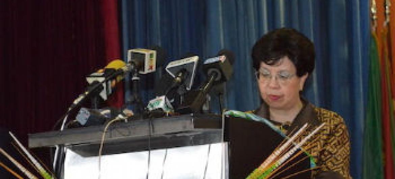 Margaret Chan em reunião da Comissão Regional para África. Foto: OMS África