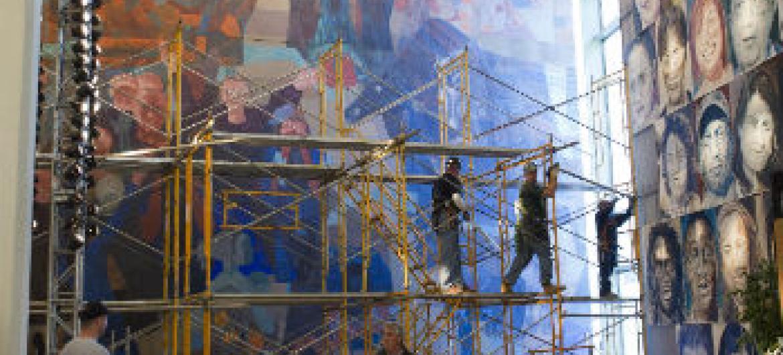 Obras retiradas da sede da ONU em 2010. Foto: ONU/Mark Garten