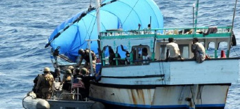 Piratas na costa da Somália. Foto: ONU