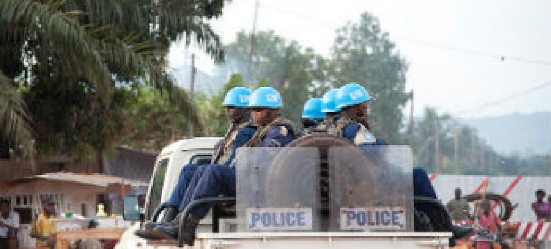 Patrulha da Minusca em Bangui. Foto: ONU/Catianne Tijerina