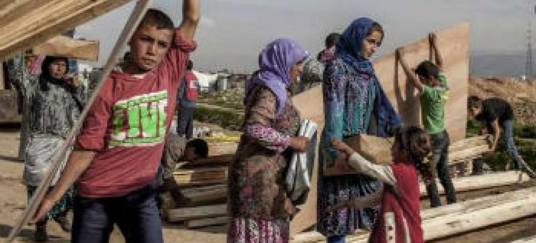 Refugiados sírios. Foto: Acnur/I. Prickett