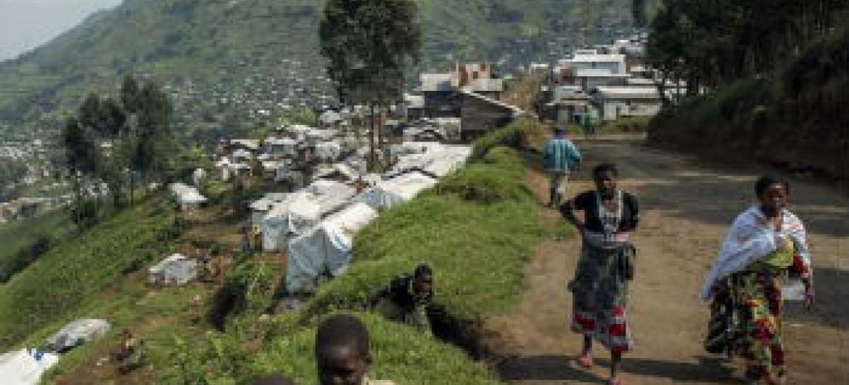 Deslocados em Kivu Norte. Foto: Acnur/B.Sokol