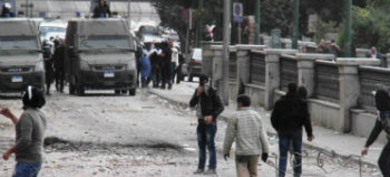 Protestos no Egito. Foto: Irin/Amr Emam