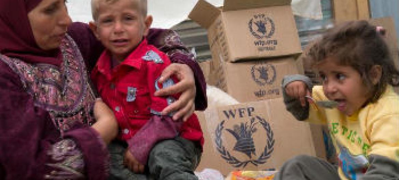Campanha ajuda refugiados sírios. Foto: PMA/Rein Skullerud