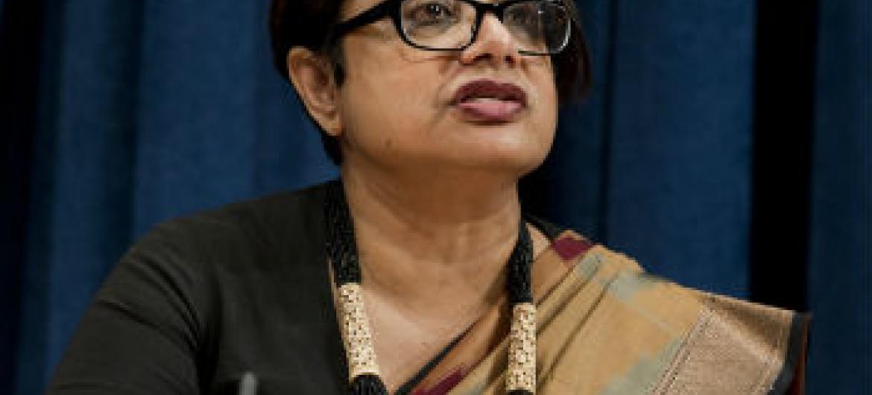 Radhika Coomaraswamy. Foto:ONU/Eskinder Debebe