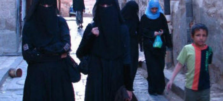 Pedestres em Sanaa, capital do Iémen; Foto: Pnud Iémen