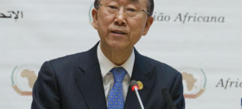Ban Ki-moon em encontro da União Africana. Foto: ONU/Eskinder Debebe