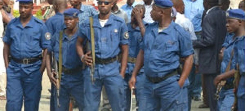 Forças policiais no Burundi. Foto: Irin/Desire Nimubona