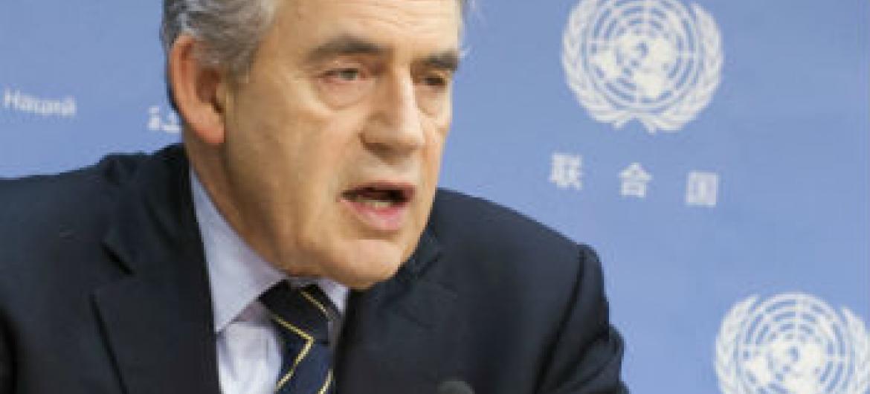 Gordon Brown. Foto: ONU/Mark Garten