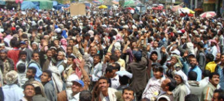 Protestos Iêmen. Foto: Irin/Adel Yahya