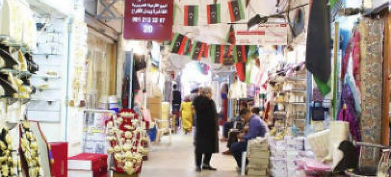 Mercado em Tripoli, Líbia. Foto: Unsmil