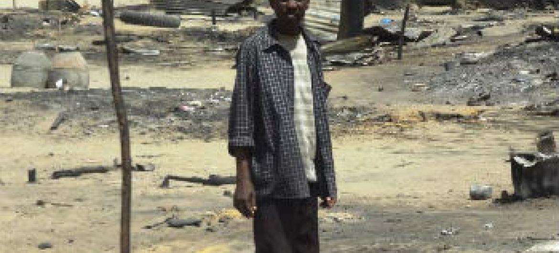 Destruição na cidade de Baga, Nigéria. Foto: Irin/Aminu Abubakar