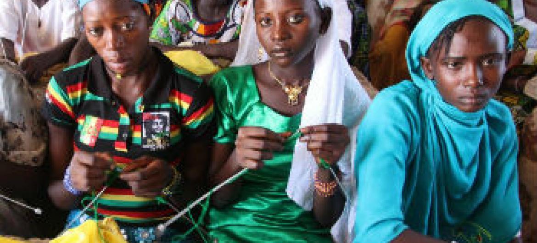 Mulheres centro-africanas deslocadas. Foto: Ocha/G. Cortes