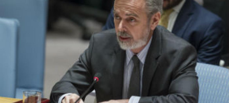 Antonio Patriota no Conselho de Segurança. Foto: ONU/Loey Felipe