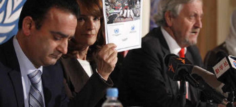 Lançamento do relatório da Unama. Foto: Unama/Fardin Waezi