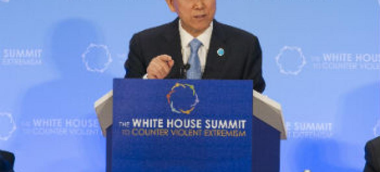 Ban Ki-moon discursa em Washington. Foto: ONU/Eskinder Debebe