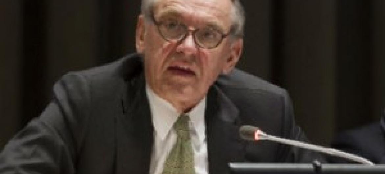 Jan Eliasson em debate temático de alto nível sobre a agenda de desenvolvimento pós-2015. Foto: ONU/Loey Felipe