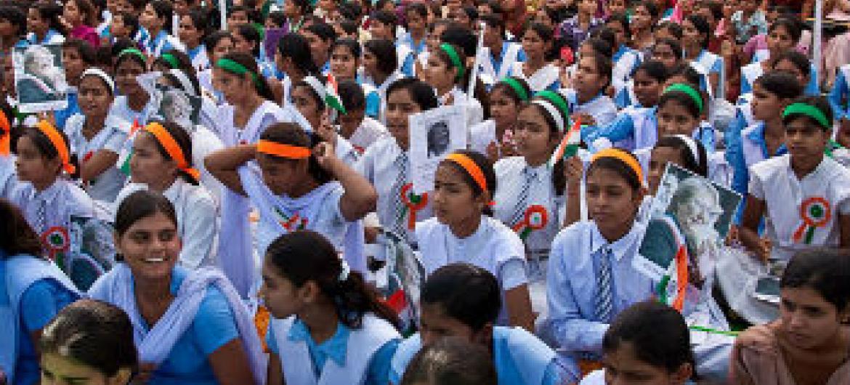 Igualdade de gênero na educação. Foto: ONU Mulheres/Gaganjit Singh Chandok