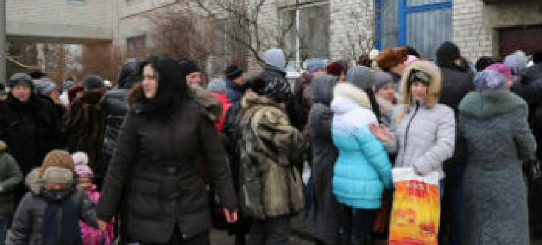 Famílias deslocadas na Ucrânia. Foto: PMA/Abeer Etefa