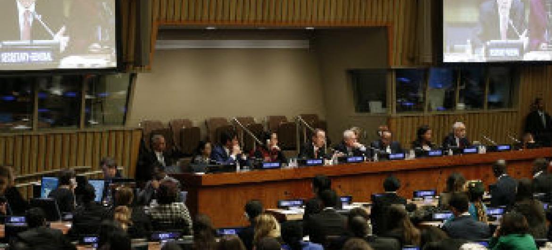 Ban discursa no Fórum da Juventude. Foto: ONU/Evan Schneider