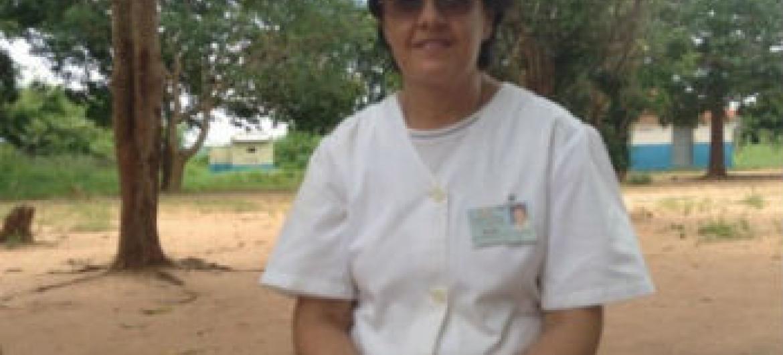Maria Augusta Vilas Boas, enfermeira em Moçambique. Foto: OMS/L. Gouveia