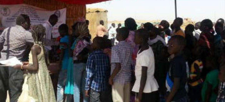 Menores sul-sudaneses. Foto: Acnur