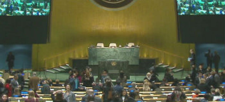 Reunião acontece na sala da Assembleia Geral da ONU. Foto: ONU