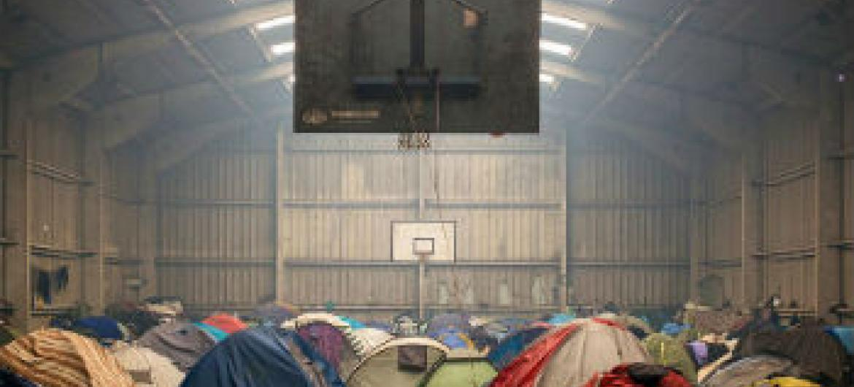Acampamento de refugiados sírios improvisado. Foto: Acnur/C. Vander Eecken