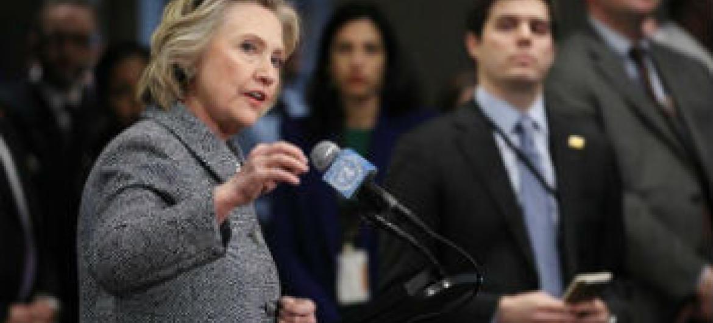 Hillary Clinton. Foto: ONU/Evan Schneider