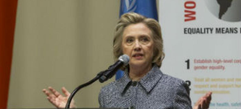 Hillary Clinton. Foto: ONU/Loey Felipe