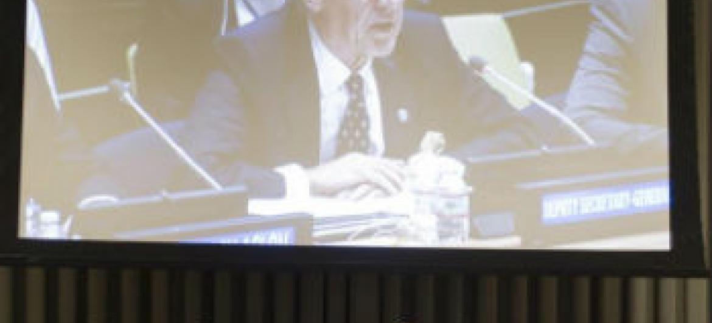 Jan Eliasson em discurso no debate de alto nível. Foto: ONU/Mark Garten