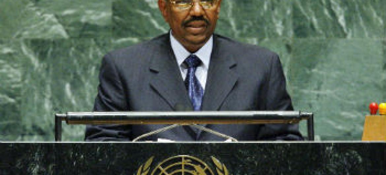 Omar Al Bashir na sede da ONU, em 2006. Foto: ONU/Marco Castro