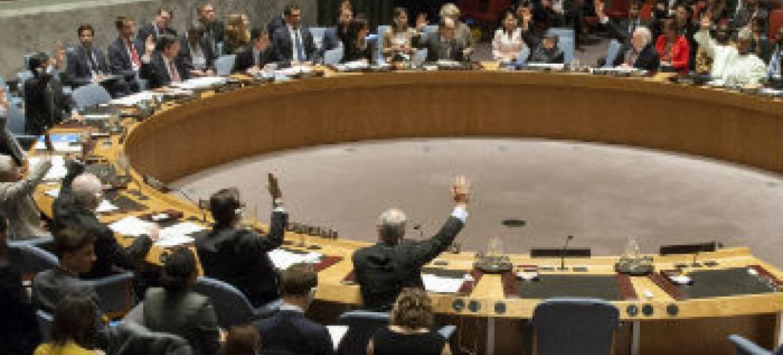 Votação no Conselho de Segurança nesta quinta-feira. Foto: ONU/Loey Felipe