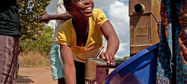Água potável acessível em Moçambique. Foto: Unicef Moçambique