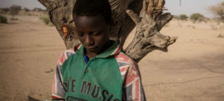 Menino nigeriano refugiado. Foto: Acnur/O. Laban-Mattei