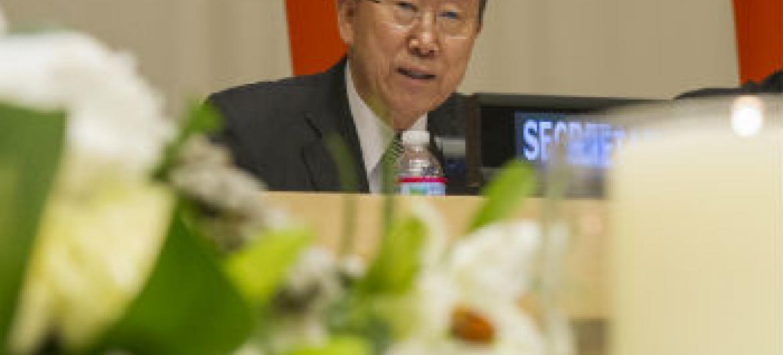 Ban Ki-moon lamenta conflitos e crimes em várias partes do mundo. Foto: ONU/Eskinder Debebe