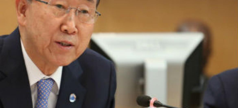 Ban Ki-moon em Washington nesta sexta-feira. Foto: Banco Mundial