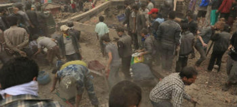Destruição na capital Katmandu. Foto: Pnud Nepal/Laxmi Prasad Ngakhusi