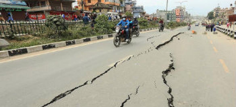 Estragos causados pelo terremoto no Nepal. Foto: Pnud Nepal/Laxmi Prasad Ngakhusi