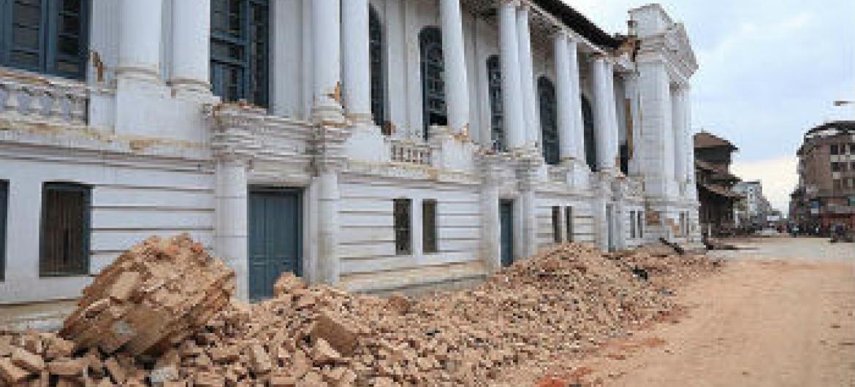 Estragos causados pelo terremoto no Nepal. Foto: Pnud/Laxmi Prasad Ngakhusi